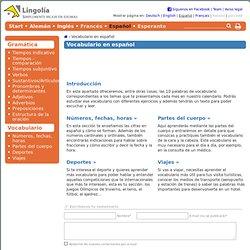Vocabulario en español - Lingolia Español