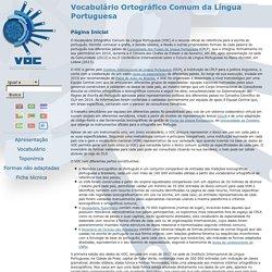 Vocabulário Ortográfico Comum da Língua Portuguesa