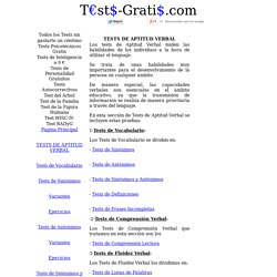Tests de Aptitud Verbal Gratis: Vocabulario, Comprensión, Fluidez, Razonamiento