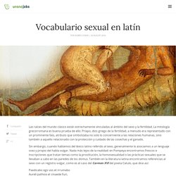 Vocabulario sexual en latín