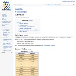 Alemán/Vocabulario/Adjetivos