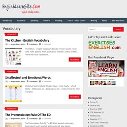 Vocabulary –