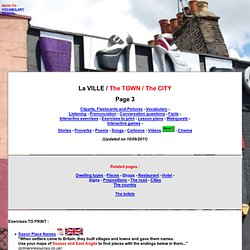 The town - The city - Vocabulary - Activities