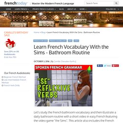 Learn French Vocabulary With the Sims - Bathroom Routine
