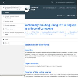 F_Vocabulary: Description of the Course