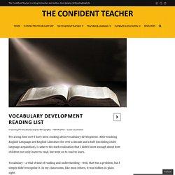 Vocabulary Development Reading List