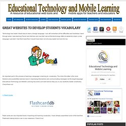 Great Website To Develop Students Vocabulary
