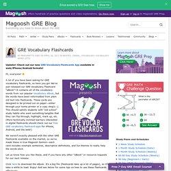 GRE Vocabulary Flashcards - Magoosh GRE Blog
