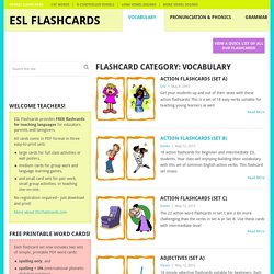 Free Vocabulary Flashcards for Teaching ESL