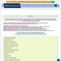 Vocabulary, Vocabulary games - www.myvocabulary.com