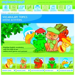 Vocabulary Games and Quizzes for ESL kids