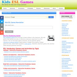Interactive Fun Vocabulary Games for Young Learners