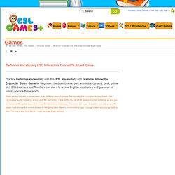 Bedroom Vocabulary ESL Interactive Crocodile Board Game