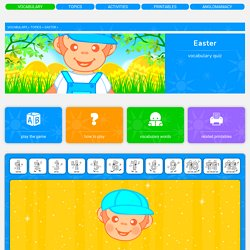 Easter vocabulary for kids learning English