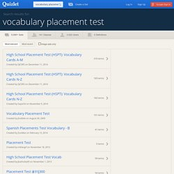 Search › vocabulary placement test