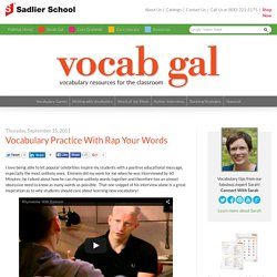 Vocabulary Practice With Rap Your Words