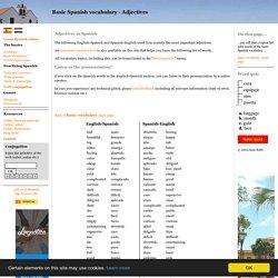 Basic Spanish vocabulary - Adjectives (with pronunciation!)