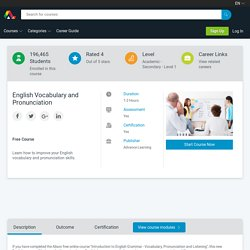 Free Course - English Vocabulary and Pronunciation