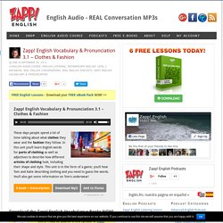 English Vocabulary & Pronunciation MP3 – Clothes & Fashion