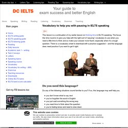 DC IELTS: A list of vocabulary for hard questions in IELTS speaking