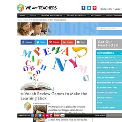 11 Vocabulary and Test Review Games