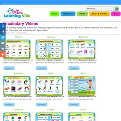 Vocabulary Videos, free ESL, EFL videos