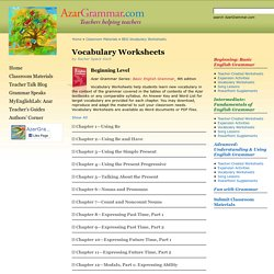 Classroom Materials » BEG Vocabulary Worksheets