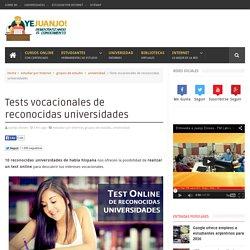 Tests vocacionales de reconocidas universidades