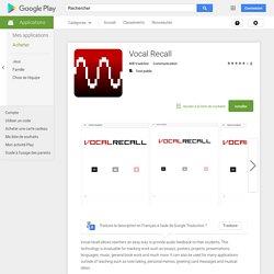 Vocal Recall