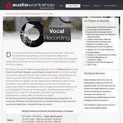 Vocal Recording & Editing