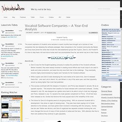 Vocaloid Software Companies – A Year-End Analysis
