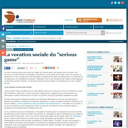 "La vocation sociale du ""serious game"""