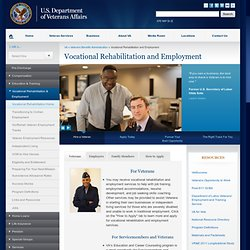 Vocational Rehabilitation and Employment Home