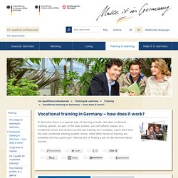 Vocational training in Germany – how does it work?