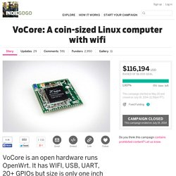 VoCore: A coin-sized Linux computer with wifi