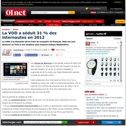 VOD : 31 % des internautes en ont regardé au moins une en 2012