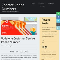 Vodafone Customer Service Phone Number