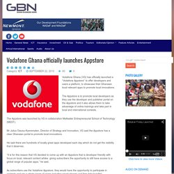 Vodafone Ghana officially launches Appstore