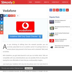 Vodafone SIM Only Deals and Offers