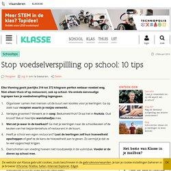 Stop voedselverspillling op school: 10 tips