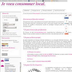 Je voeu consommer local.