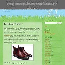 VOGA-NOW: Luxuriously Leather: