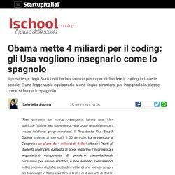 Gli Usa vogliono insegnare il coding come lo spagnolo