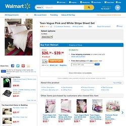 Teen Vogue Pink and White Stripe Sheet Set: Bedding