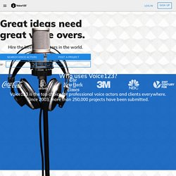 Voice123 - The Voice Over Marketplace - Voice Overs, Voice Actors, and Talents