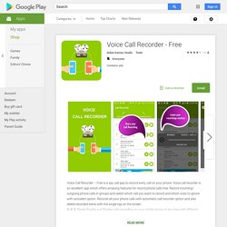 Voice Call Recorder - Free