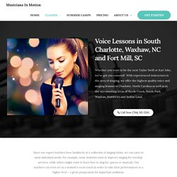 Voice Lessons in South Charlotte
