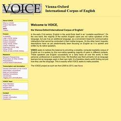 VOICE - Project - 'Lingua Franca corpus'