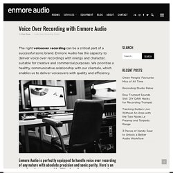 Voice over Recording in Sydney with Enmore Audio