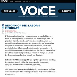 Reform or die: Labor & Medicare